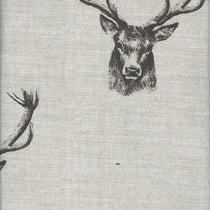 Stags Charcoal Fabric by the Metre