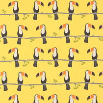 Terry Toucan Tangerine Charcoal Maize 120464 Curtains