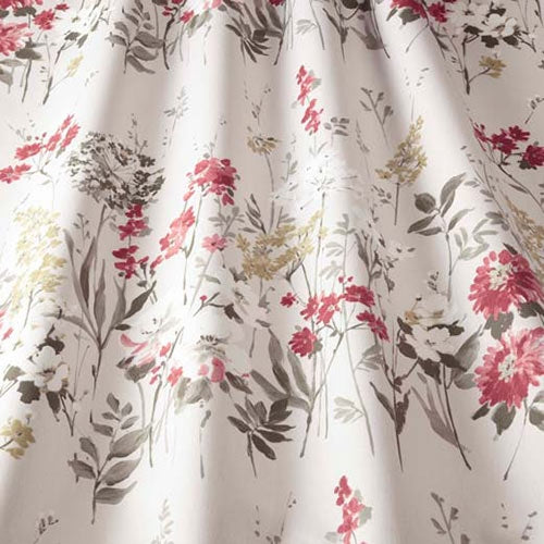 Wild Meadow Ruby Curtains