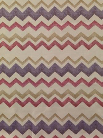 Zigzag raspberry fabric by the metre by bill beaumont for Childrens curtain fabric by the metre