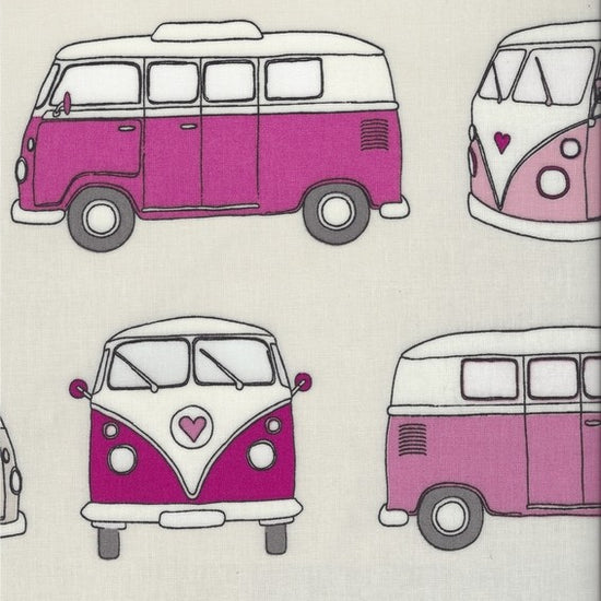 Campervan Pink PVC Tablecloth PVC Tablecloths