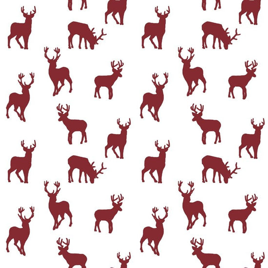 Stag Red PVC Tablecloth PVC Tablecloths