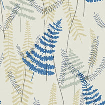 Athyrium Chalk Denim and Biscuit Wallpapers