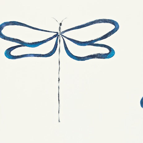 Dragonfly Indigo Peacock and Chalk Wallpapers