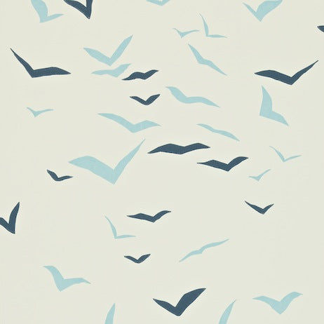 Flight Powder Blue Chalk and Indigo Wallpapers