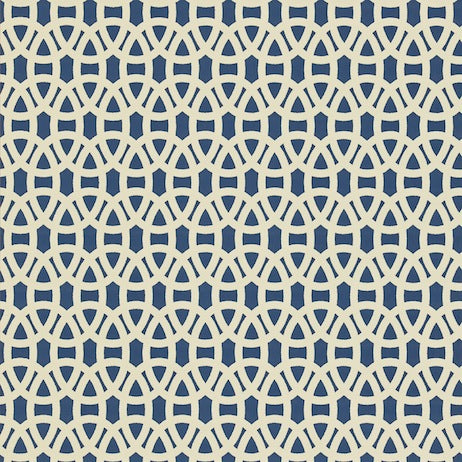 Lace Indigo and Linen Wallpapers