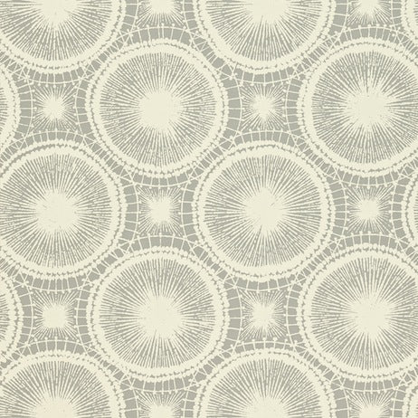 Tree Circles Pewter and Chalk Wallpapers