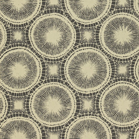 Tree Circles Pewter and Hemp Wallpapers