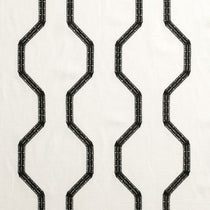 BW1012 Embroidery Black and White Roman Blinds