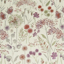 Flora Cream Plum Fabric by the Metre