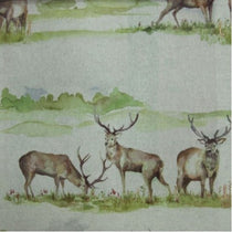 Moorland Stag Linen Fabric by the Metre