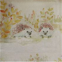 Mr and Mrs Hedgehog Linen Fabric by the Metre