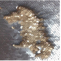 Elixir Diamond Two Tone Sequins Fabric by the Metre