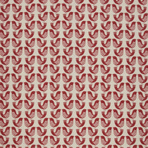 Scandi Birds Scarlet Curtains