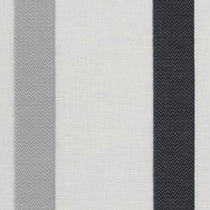 Raso Silver Black Sheer Voile Curtains