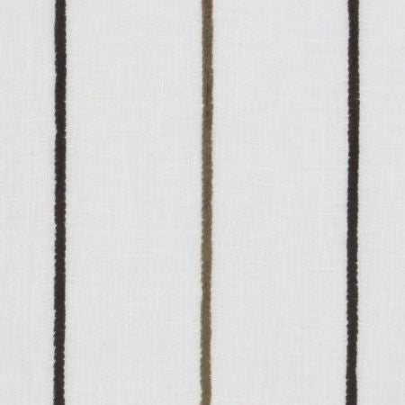 Riga Espresso Sheer Voile Curtains