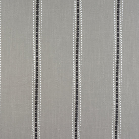 Bromley Stripe Silver Curtains