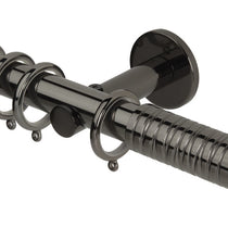 Wired Barrel Black Nickle Curtain Poles