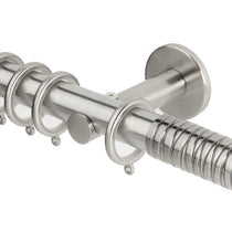 Wired Barrel Stainless Steel Curtain Poles