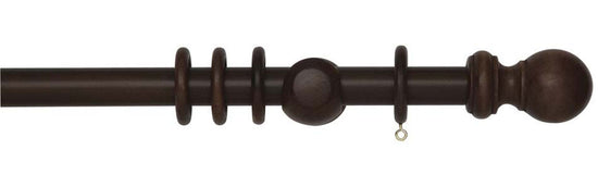 Dark Oak Wooden Curtain Poles