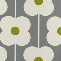 Abacus Flower Olive Curtains