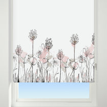 Floral Border Roller Blinds