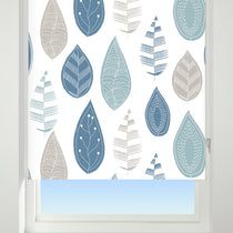 Leaf Cluster Blue Roller Blinds