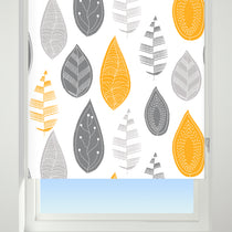 Leaf Cluster Yellow Roller Blinds