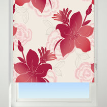 Lilly Red Roller Blinds