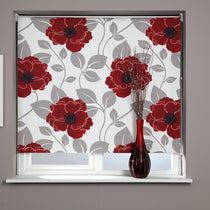 Papavero Red Roller Blinds