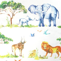 Lets Go On Safari White Wall Art