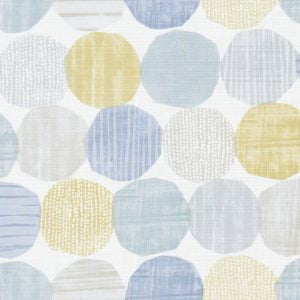 Stepping Stones Chambray Honey Curtains