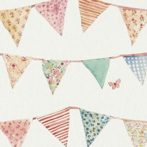 Bunting Cream Curtains
