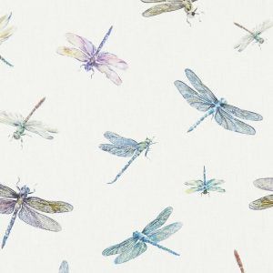 Dragonflys Cream Curtains