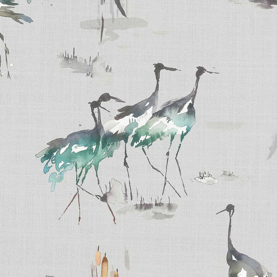 Cranes Cobalt Curtains