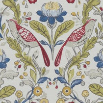Orchard Birds Rouge Curtains