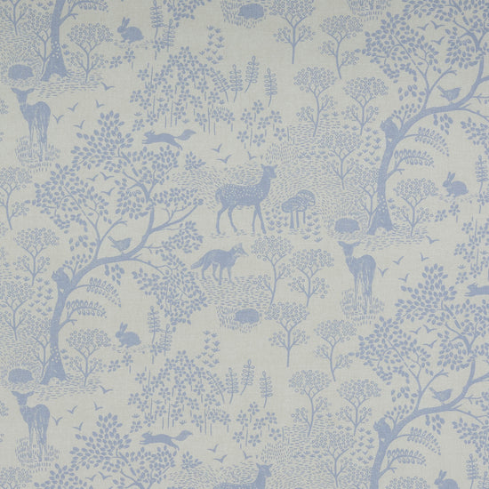 Woodland Life Blue Curtains
