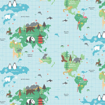 World Map Curtains