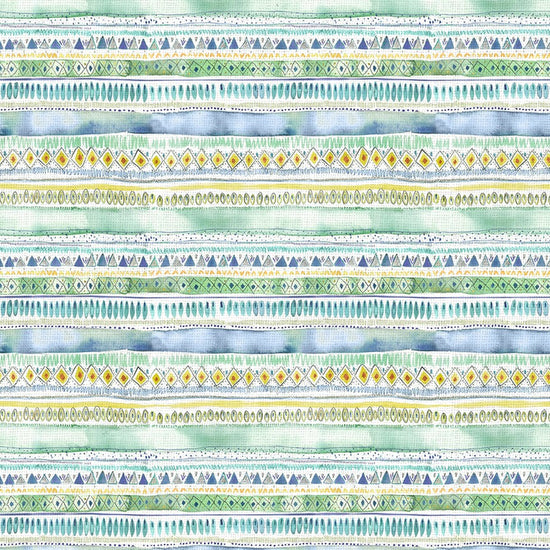 Carnival Stripe Lagoon Curtains