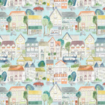Village Streets Sunburst Fabric by the Metre