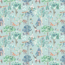 Woodland Adventures Aqua Fabric by the Metre