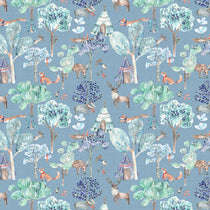 Woodland Adventures Denim Fabric by the Metre