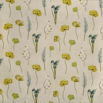 Flower Press Lemon Grass Curtains