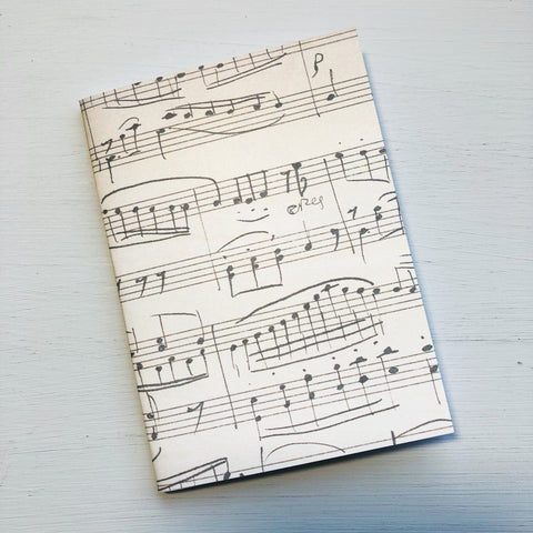 Musical Note Passport Size Notebook