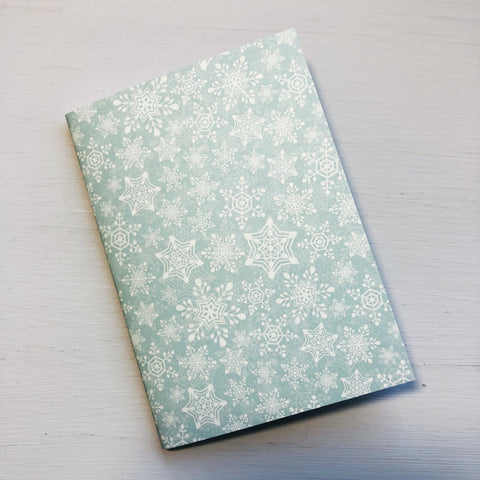 Snowflake Passport Size Notebook