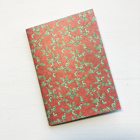 Christmas Holly Passport Size Notebook