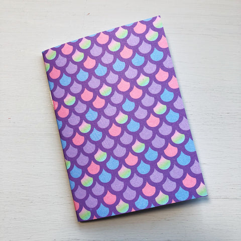 Colourful Mermaid Scale Passport Size Notebook