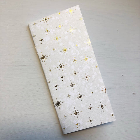 Gold Accent Star Hobonichi Weeks Size Notebook