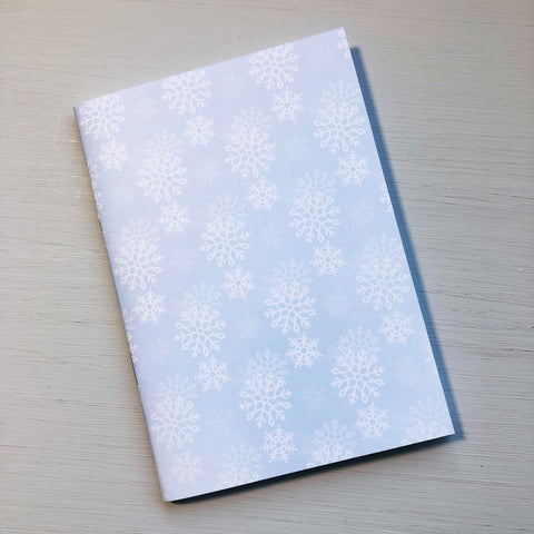 Pale Snowflake A6 Size Notebook
