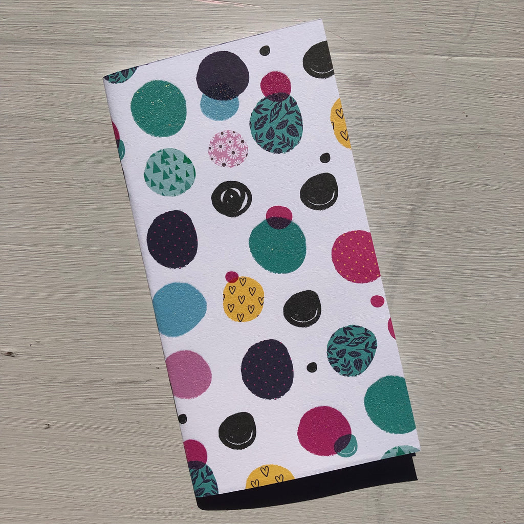 Coloured Spots with Glitter Accent Standard Size Notebook